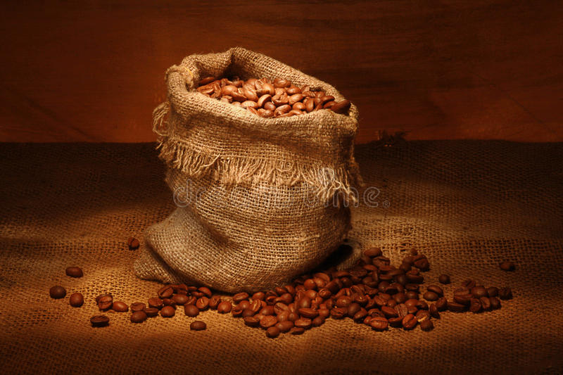 καφές τσαντών στοκ εικόνα