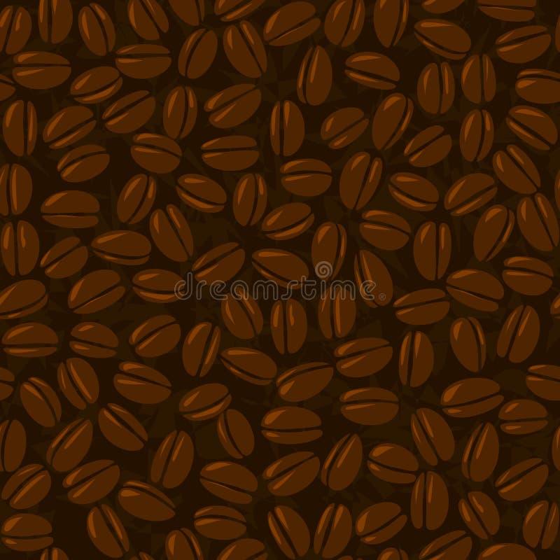 καφές φασολιών άνευ ραφής απεικόνιση αποθεμάτων