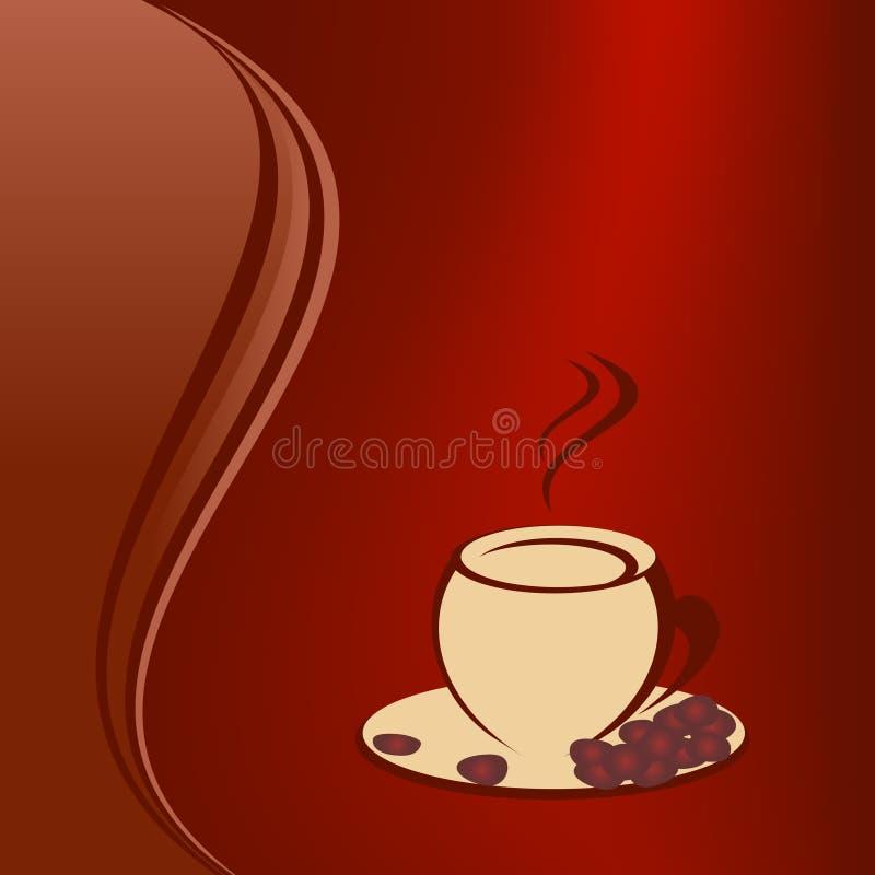 καφές φασολιών διανυσματική απεικόνιση