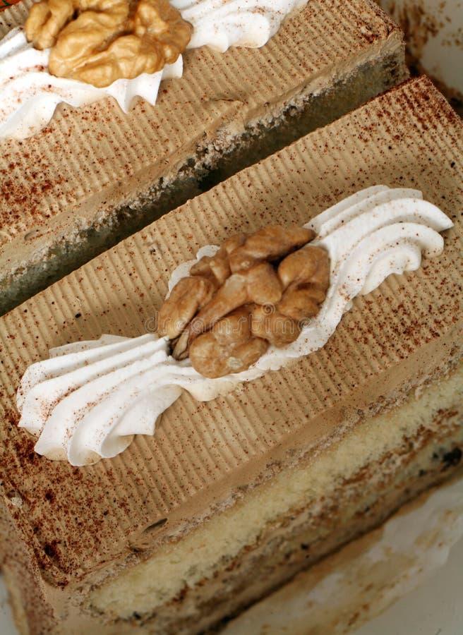 καφές 2 κέικ στοκ φωτογραφίες
