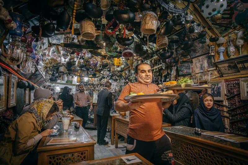 Καφές Azadegan στο Ισφαχάν, Ιράν στοκ εικόνα