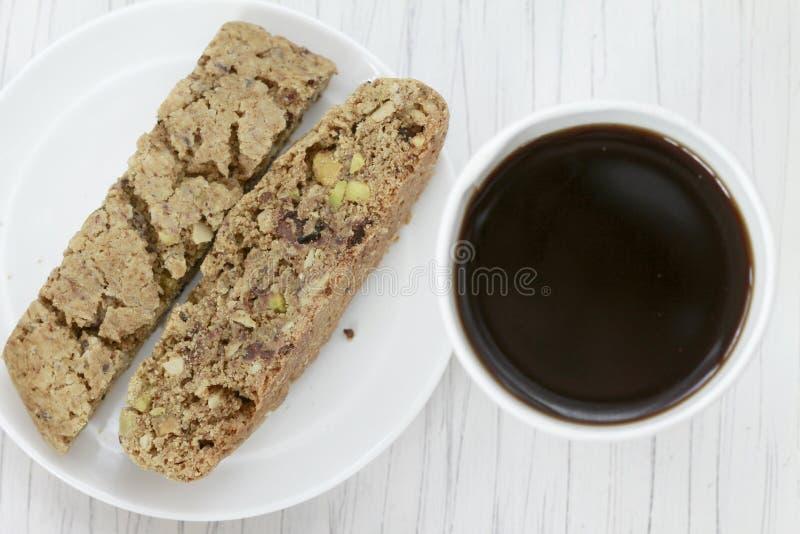 καφές biscotti στοκ φωτογραφία με δικαίωμα ελεύθερης χρήσης
