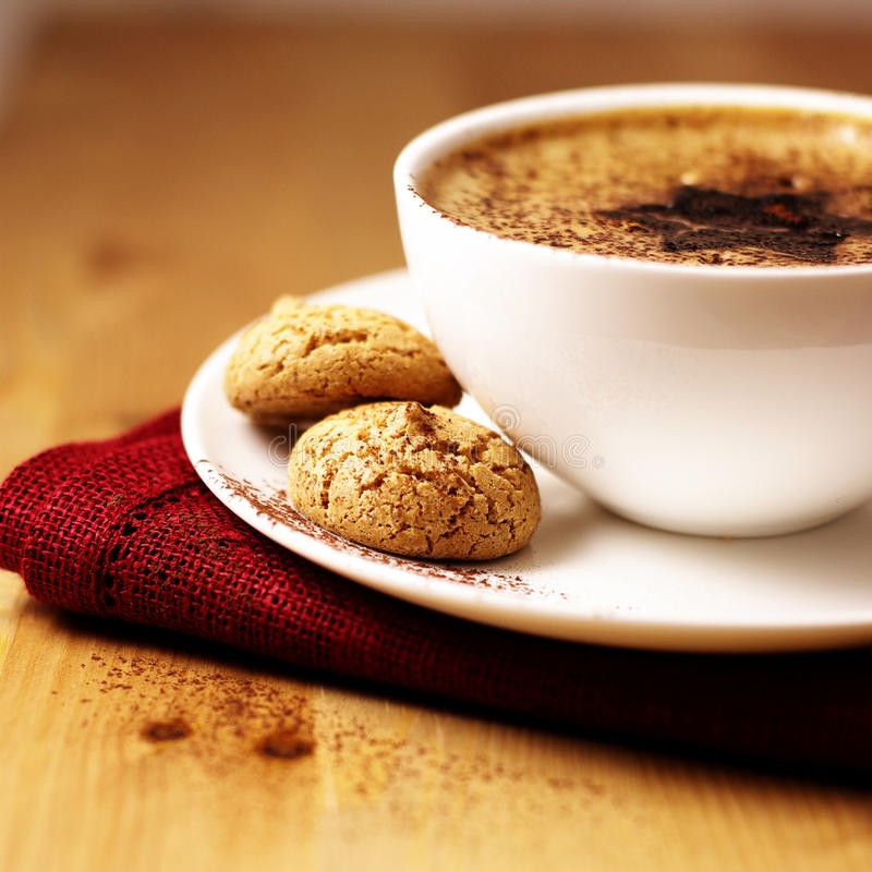 καφές biscotti στοκ εικόνες