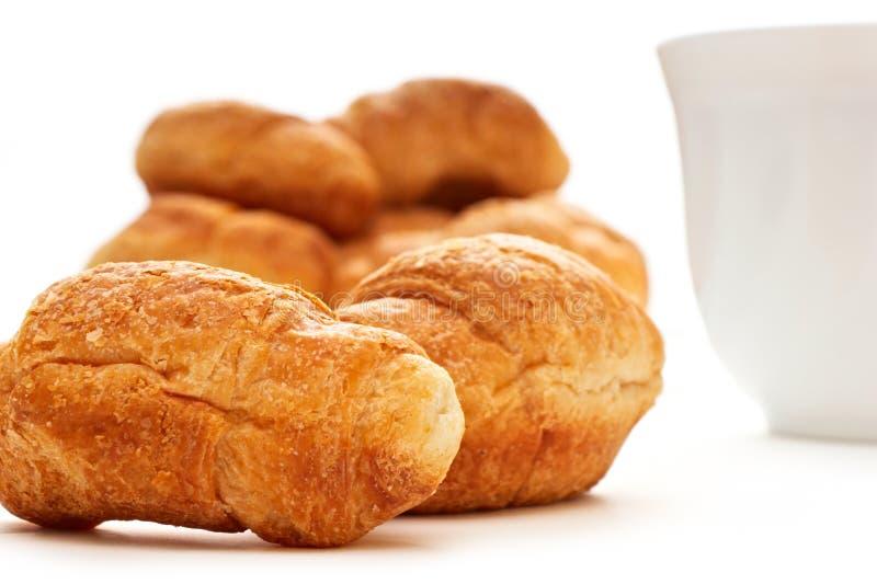 καφές croissants στοκ εικόνες