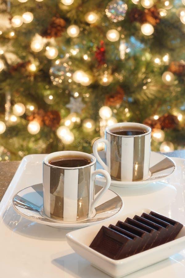 Καφές Espresso Χριστουγέννων στοκ εικόνες