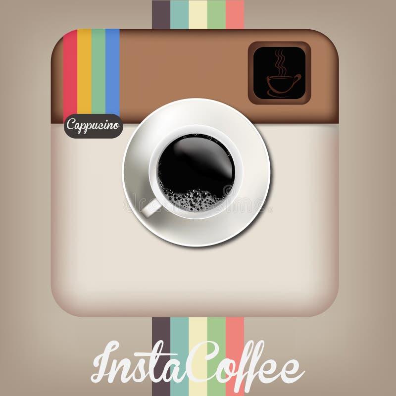 Καφές Insta στοκ εικόνα