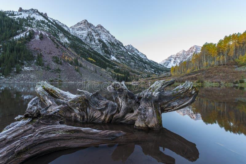 Καφέ ανατολή Aspen Κολοράντο κουδουνιών στοκ εικόνα