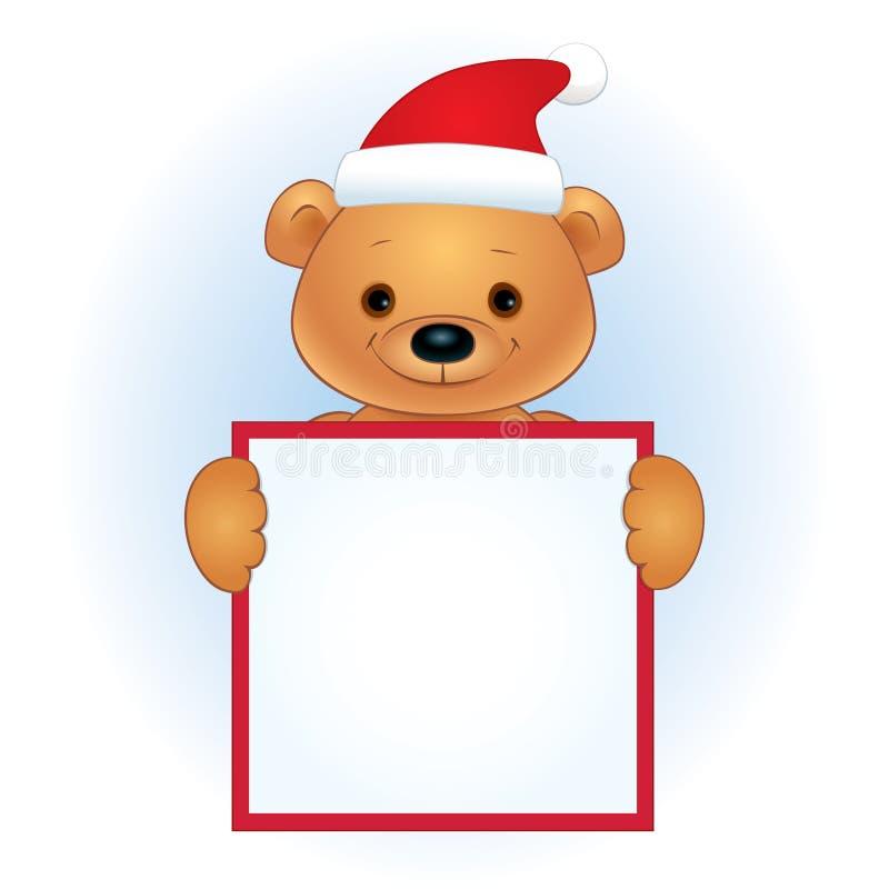 Καφετής αντέξτε με κενά Χριστούγεννα εμβλημάτων διανυσματική απεικόνιση