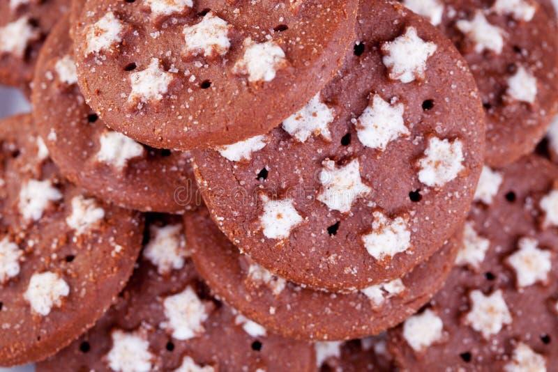καφετής εύγευστος φρέσκος μπισκότων στοκ εικόνα με δικαίωμα ελεύθερης χρήσης