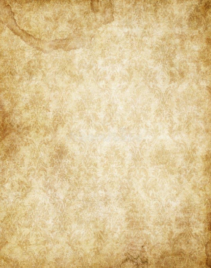 καφετής παλαιός τρύγος σύστασης περγαμηνής εγγράφου κίτρινος διανυσματική απεικόνιση