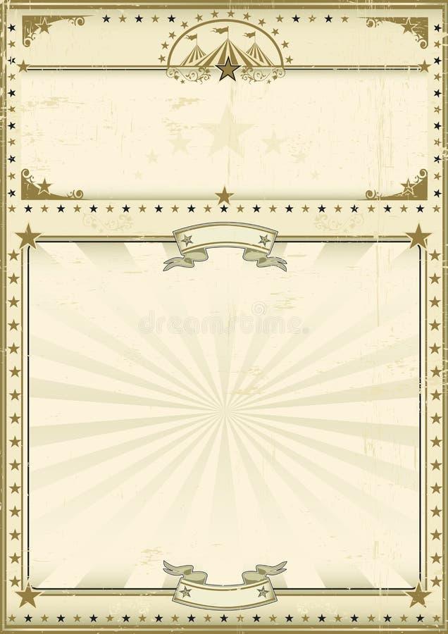Καφετής τρύγος αφισών τσίρκων διανυσματική απεικόνιση