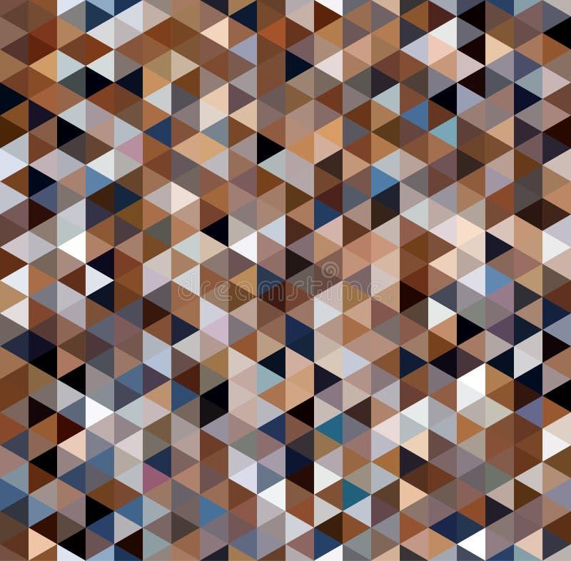 Καφετί άνευ ραφής αφηρημένο υπόβαθρο τριγώνων ελεύθερη απεικόνιση δικαιώματος