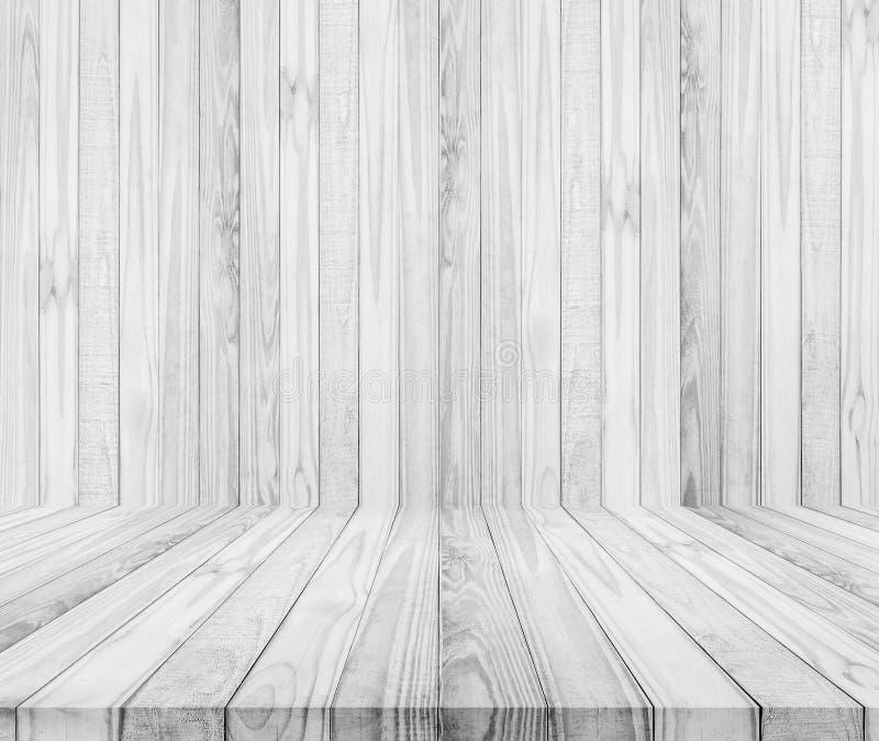 καφετί δάσος σύστασης σκιών ανασκόπησης άσπροι ξύλινοι τοίχος και πάτωμα στοκ φωτογραφίες