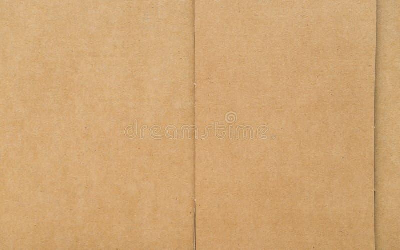Καφετί έγγραφο σύστασης χαρτονιού στοκ εικόνες