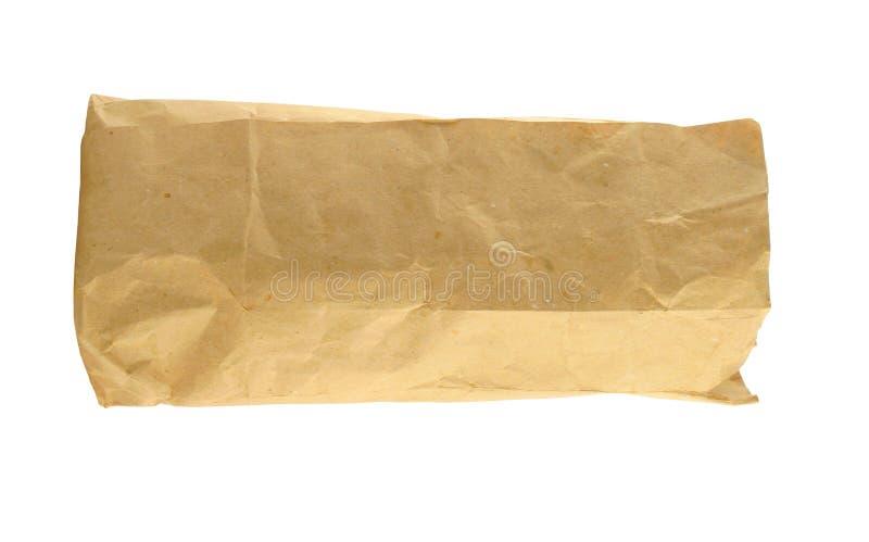 καφετί έγγραφο τσαντών στοκ εικόνες