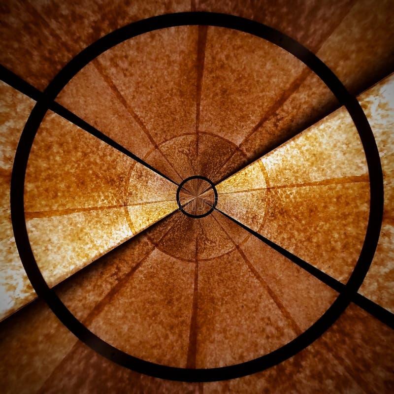 Καφετί ακτινωτό σπειροειδές αφηρημένο μέρος 1 σχεδίων αστεριών στοκ εικόνες
