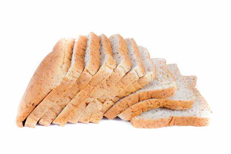 καφετί απομονωμένο λευκό ψωμιού ανασκόπησης στοκ φωτογραφία