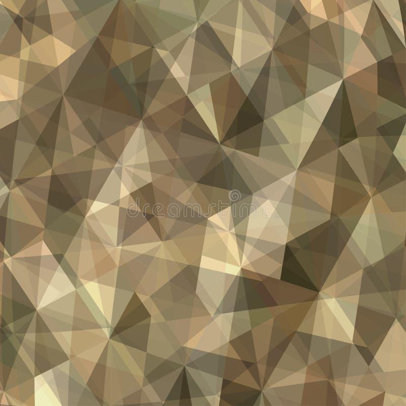 Καφετί αφηρημένο υπόβαθρο τριγώνων διανυσματική απεικόνιση