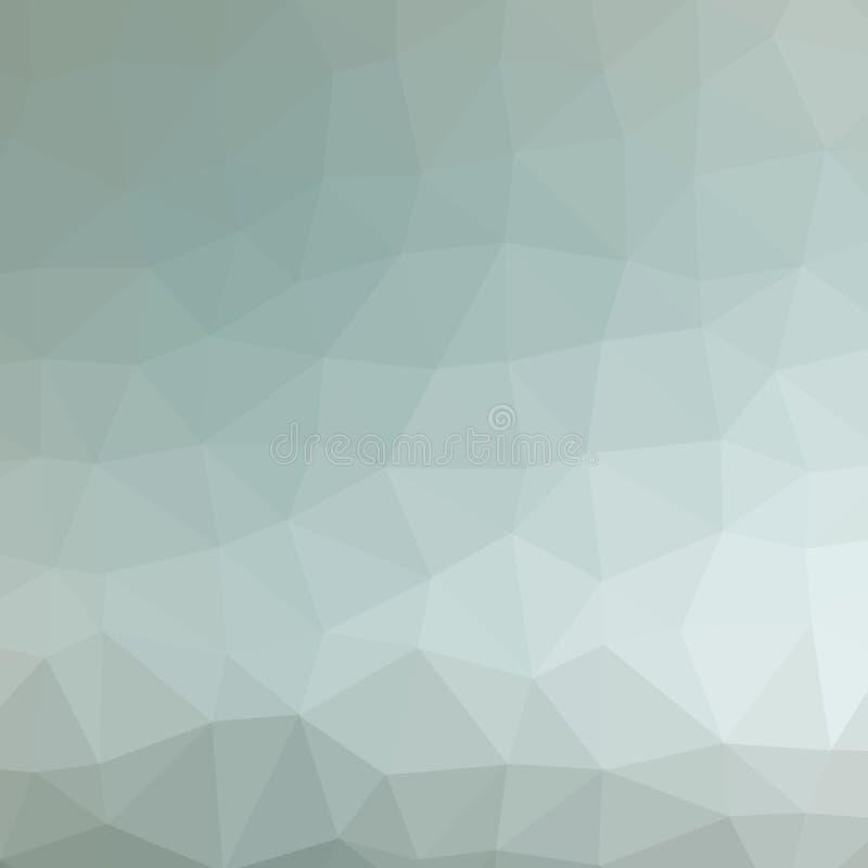 Καφετί, γκρίζο και πράσινο πολύγωνο τριγώνων στην τετραγωνική απεικόνιση υποβάθρου μορφής διανυσματική απεικόνιση