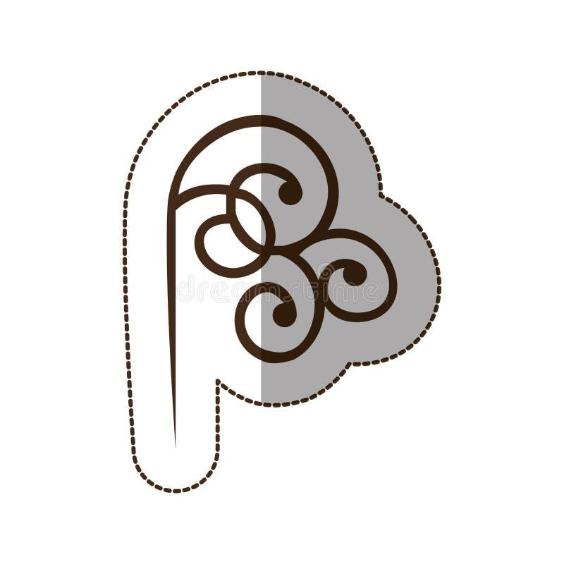 καφετί διακοσμητικό εικονίδιο στροβίλου απεικόνιση αποθεμάτων