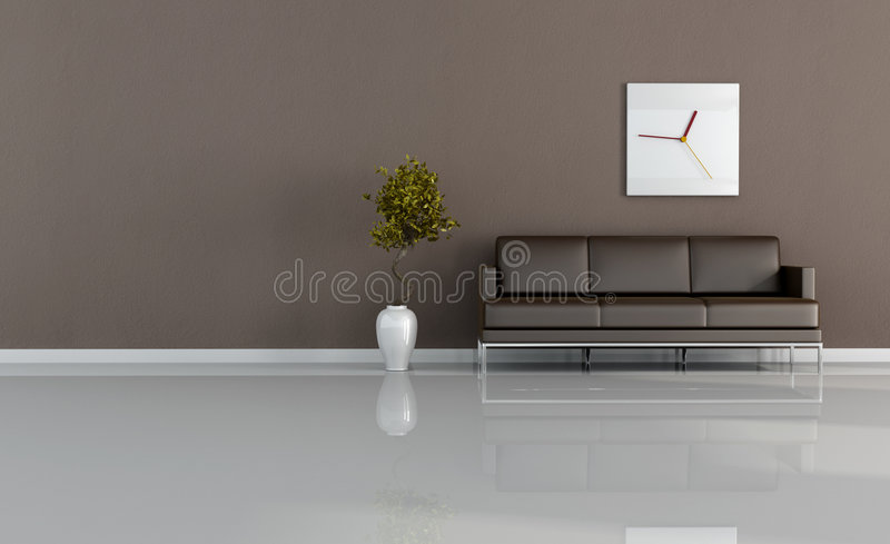 καφετί καθιστικό απεικόνιση αποθεμάτων