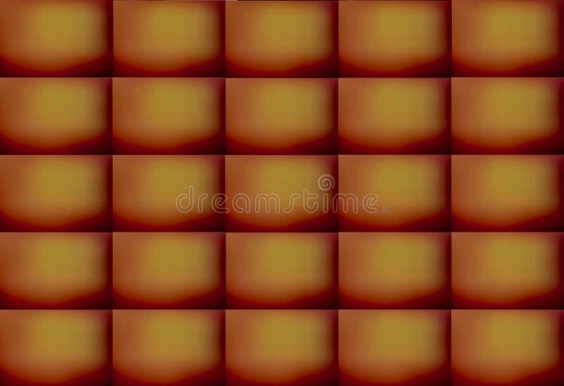 Καφετί και κίτρινο χρωματισμένο αφηρημένο ορθογώνιο υπόβαθρο σχεδίων, απεικόνιση Μπορέστε να χρησιμοποιηθείτε για τη διακόσμηση στοκ εικόνες