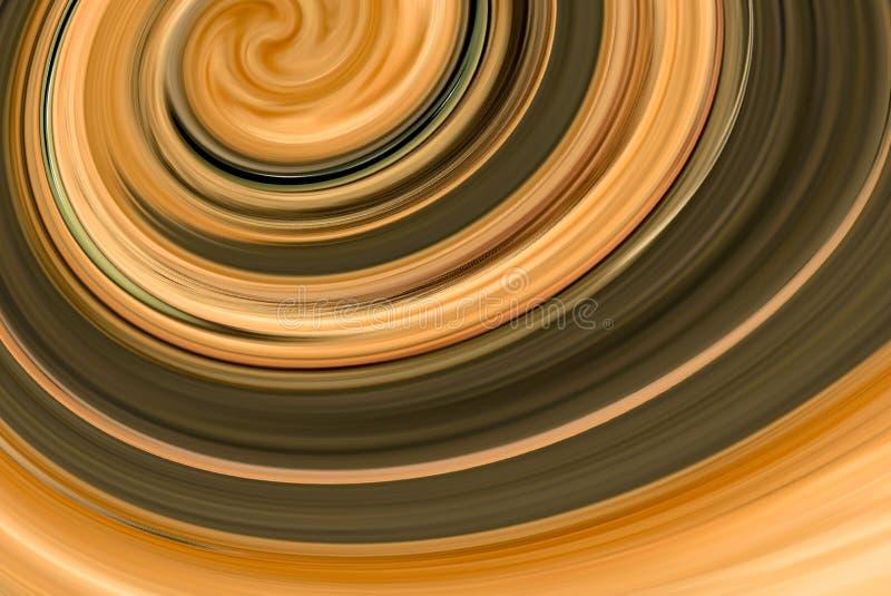 Καφετί και μαύρο υπόβαθρο σχεδίου ταπετσαριών στροβίλου αφηρημένο διανυσματική απεικόνιση