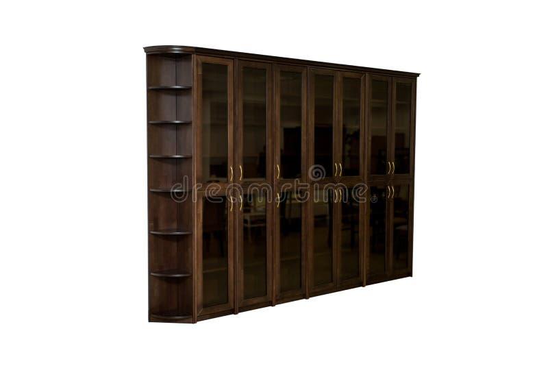 Καφετί ντουλάπι γραφείων στοκ φωτογραφία