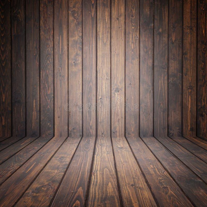 Καφετί ξύλινο κενό διάστημα πεύκων Τοίχος προοπτικής Για την επίδειξη ή στοκ φωτογραφίες με δικαίωμα ελεύθερης χρήσης