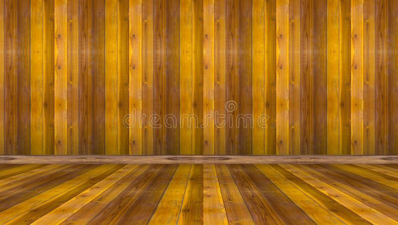 Καφετί ξύλινο υπόβαθρο τοίχων και πατωμάτων στοκ φωτογραφία με δικαίωμα ελεύθερης χρήσης