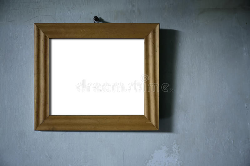 Καφετί ξύλινο πλαίσιο φωτογραφιών στοκ εικόνα με δικαίωμα ελεύθερης χρήσης