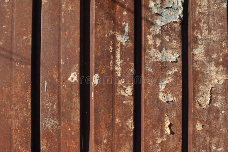 Καφετί οξυδωμένο υπόβαθρο σύστασης μετάλλων στοκ φωτογραφίες με δικαίωμα ελεύθερης χρήσης