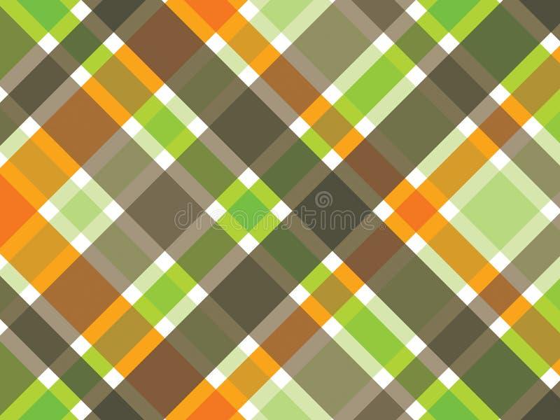 καφετί πράσινο πορτοκαλί pl διανυσματική απεικόνιση