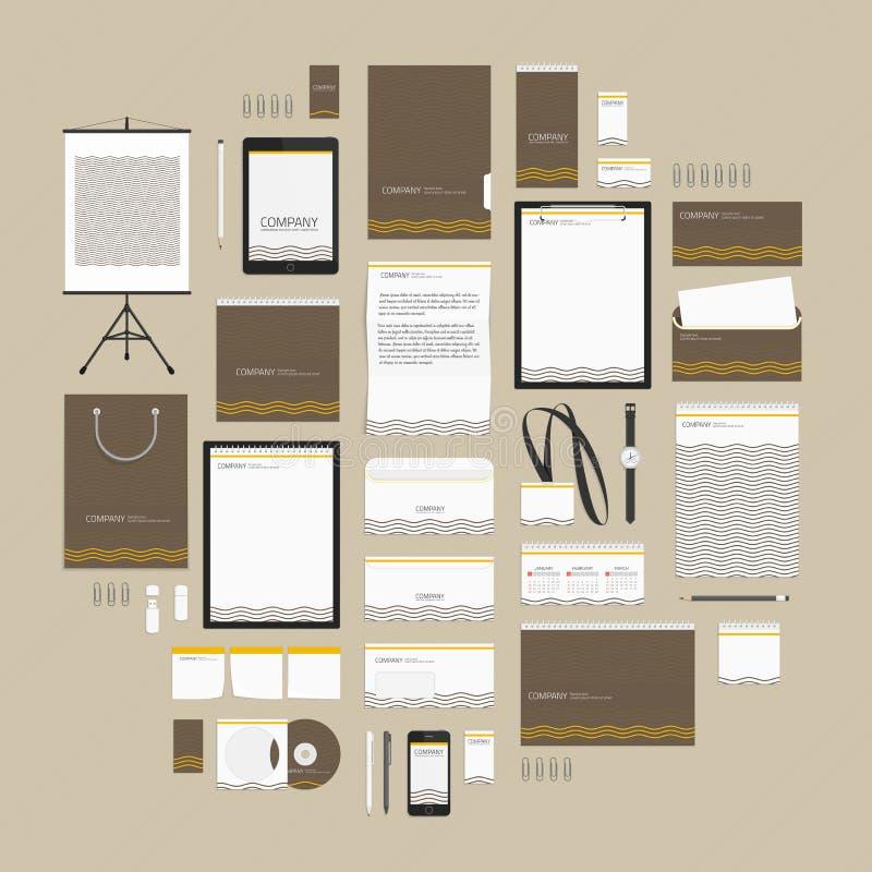 Καφετί πρότυπο ύφους κυμάτων εταιρικό διανυσματική απεικόνιση