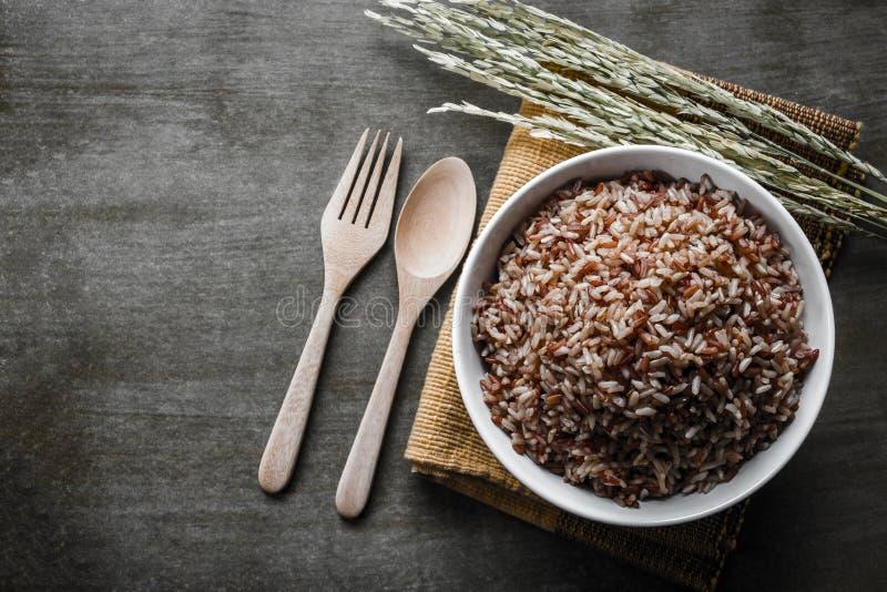 Καφετί ρύζι στοκ φωτογραφίες