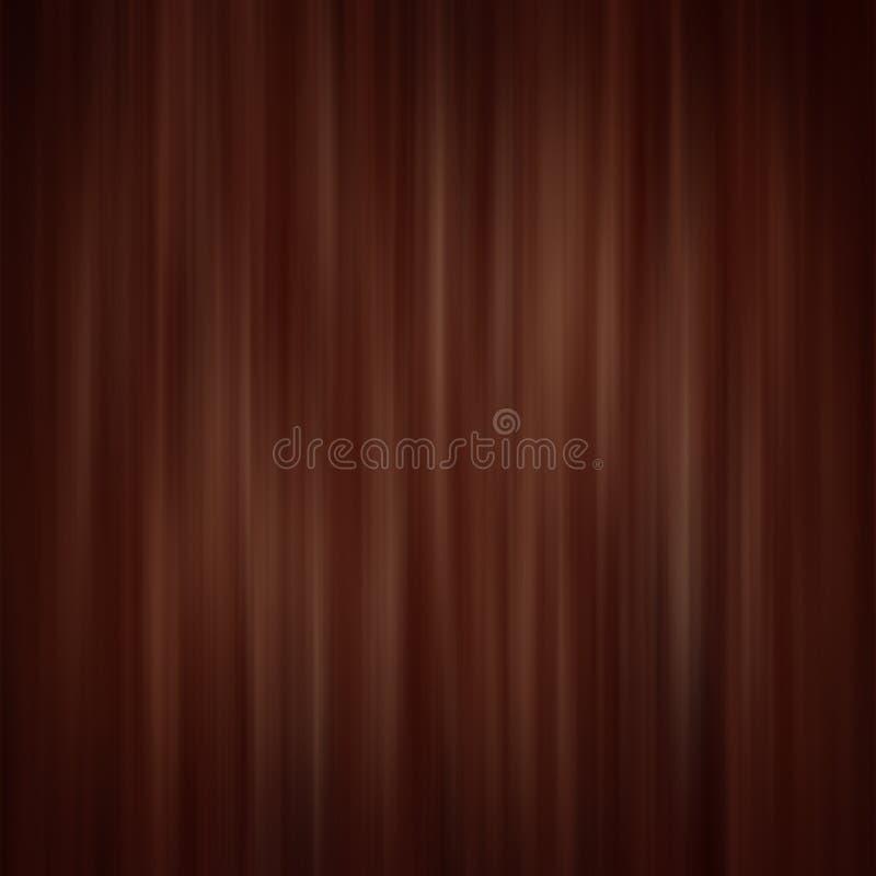 καφετί σκοτάδι κουρτινών διανυσματική απεικόνιση