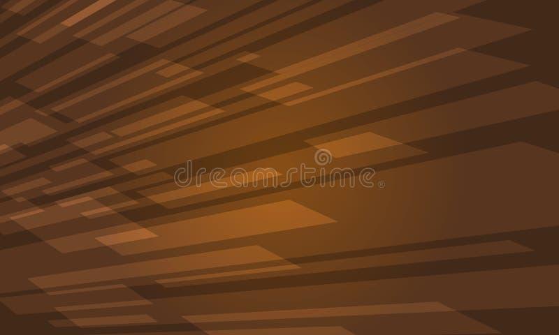 Καφετί σύγχρονο αφηρημένο διάνυσμα υποβάθρου κουράς γεωμετρικό ελεύθερη απεικόνιση δικαιώματος