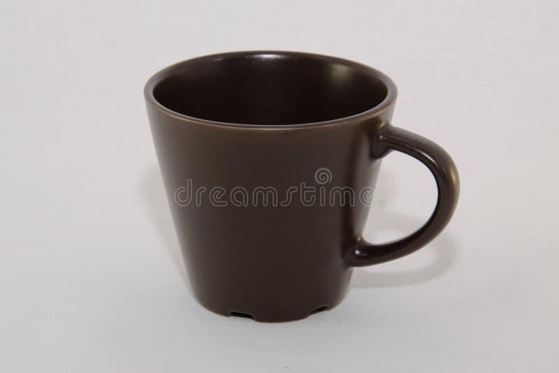 Καφετί φλυτζάνι καφέ στοκ εικόνες