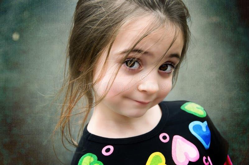 καφετί eyed κορίτσι στοκ εικόνα