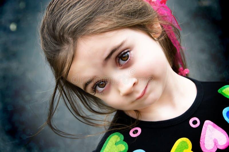 καφετί eyed κορίτσι στοκ φωτογραφίες με δικαίωμα ελεύθερης χρήσης