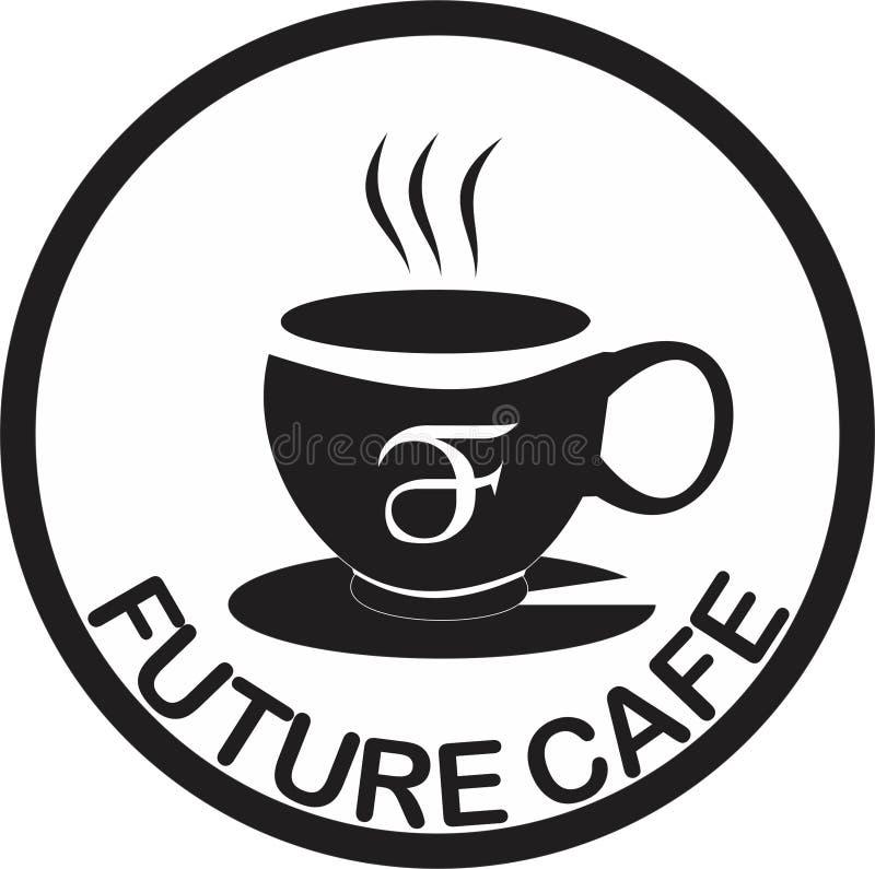 Καφετερία λογότυπων στοκ φωτογραφίες