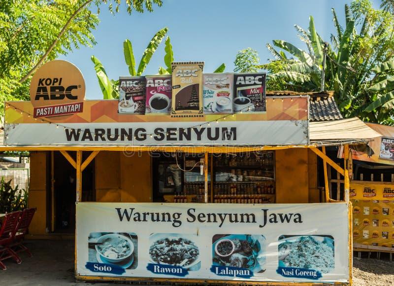 Καφετερία σε Denpasar, Μπαλί Ινδονησία στοκ εικόνα