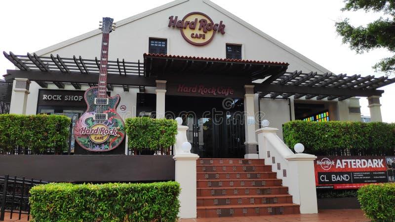 Καφετερία σκληρής ροκ σε Chinatown σε Melaka Μαλαισία στοκ εικόνα