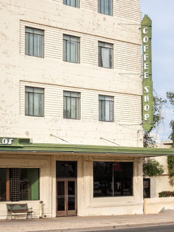 Καφετερία στο ιστορικό ξενοδοχείο στοκ φωτογραφία με δικαίωμα ελεύθερης χρήσης