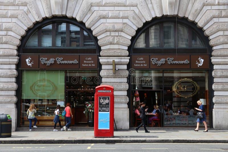 Καφετερία στο Λονδίνο στοκ φωτογραφία με δικαίωμα ελεύθερης χρήσης