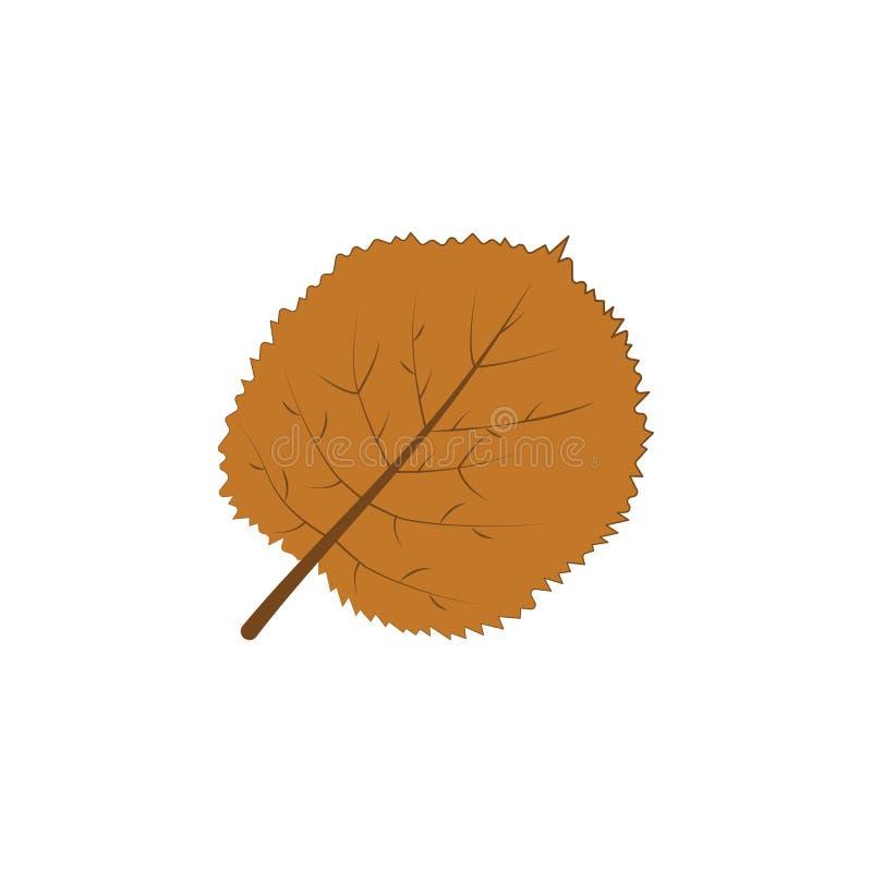 καφετιά απεικόνιση φύλλων χρώματος φθινοπώρου διανυσματική απεικόνιση