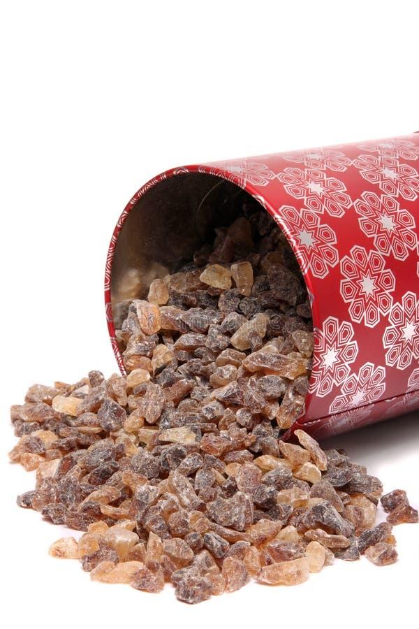 Καφετιά ζάχαρη βράχου στοκ φωτογραφία με δικαίωμα ελεύθερης χρήσης