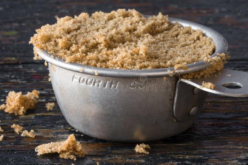 Καφετιά ζάχαρη στοκ φωτογραφία