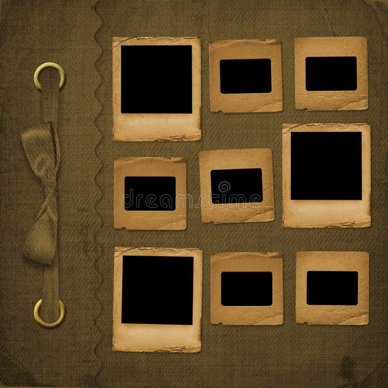 καφετιά κάλυψη λευκωμάτ&om διανυσματική απεικόνιση