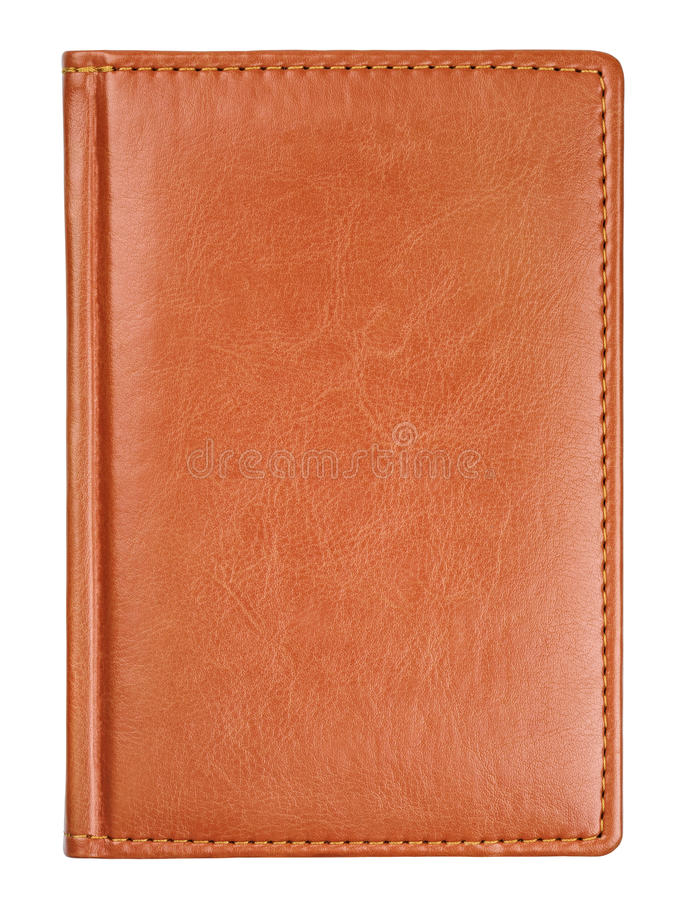 Καφετιά κάλυψη βιβλίων ημερολογίων δέρματος στοκ εικόνα με δικαίωμα ελεύθερης χρήσης